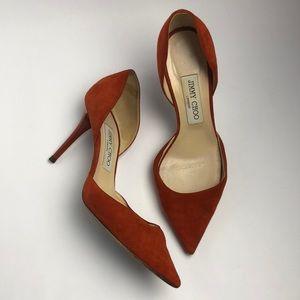 JIMMY CHOO suede heels size 7